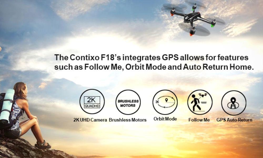 Contixo f18 Drone Features